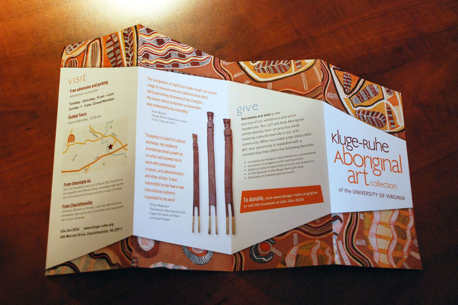 Kluge-ruhe Aboriginal Art Museum Brochure - Birch Studio Gm Graphic Design