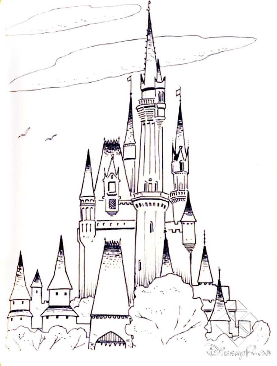 Walt Disney World Colouring Pages