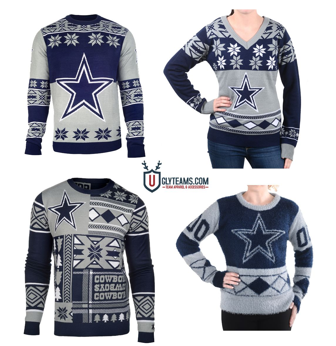 online retailer a4b83 a5482 Dallas Cowboys Ugly Sweaters by Uglyteams.com   For the love ...