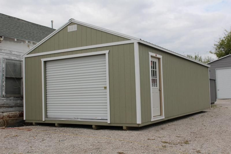 16x32 Portable Garage Portable Storage Buildings Portable Garage Built In Storage