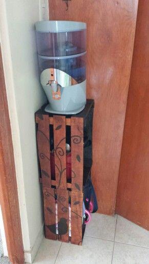 Mueble de huacales para cocina mieszkanie - organizery Pinterest