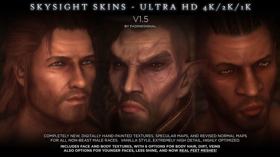 SkySight Skins - Ultra HD 4K and 2K - Male Textures and Real