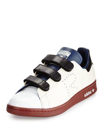 Adidas By Raf Simons Stan Smith Triple Strap Colorblock Sneaker Cream Blue Brown 靴 小物 修理