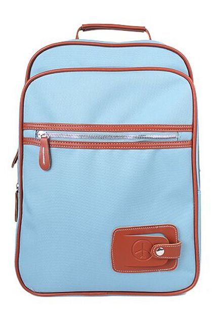 ROMWE | ROMWE PU Panel Blue Backpack, The Latest Street Fashion THIS BACKPACK THO FOR REAL