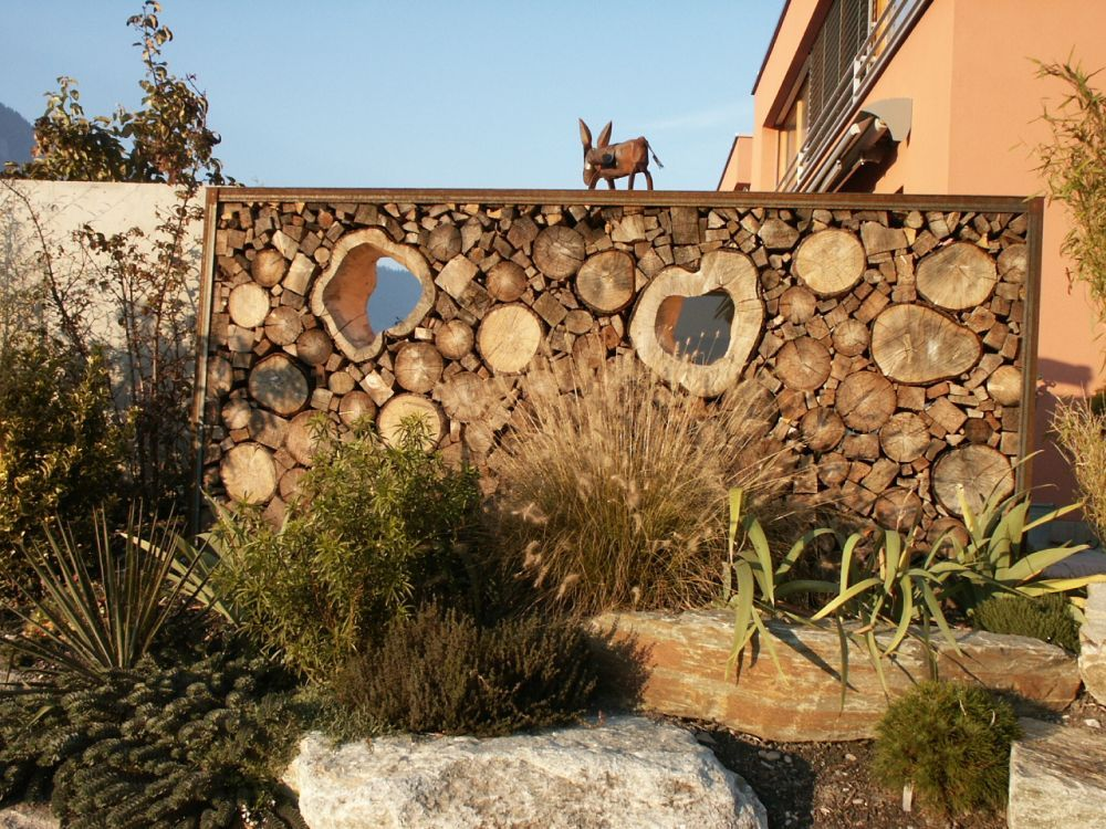 Sichtschutz-Holzjpg 1000×750 Pixel Inspiring Ideas Pinterest - garten sichtschutz stein