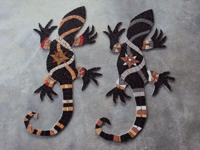 Iguanas em Mosaico - Casa Claudia