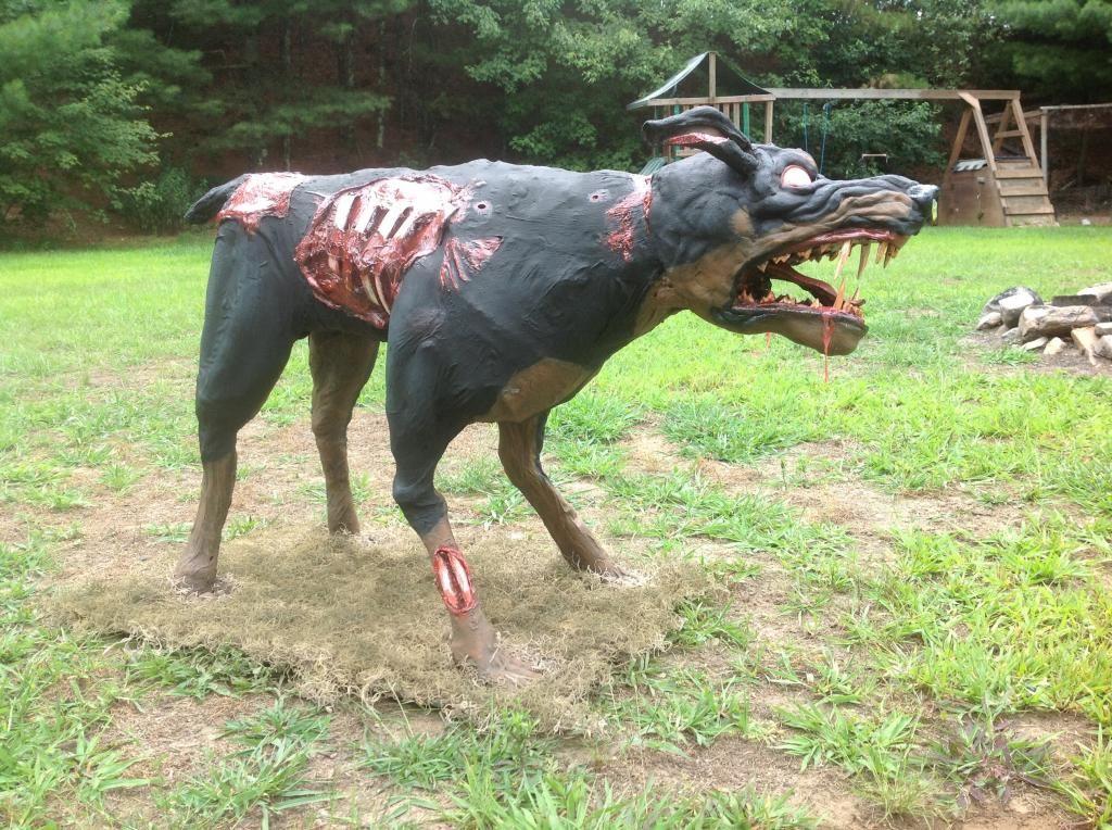 resident evil zombie dog diy from the hog flu on hauntforum its really good