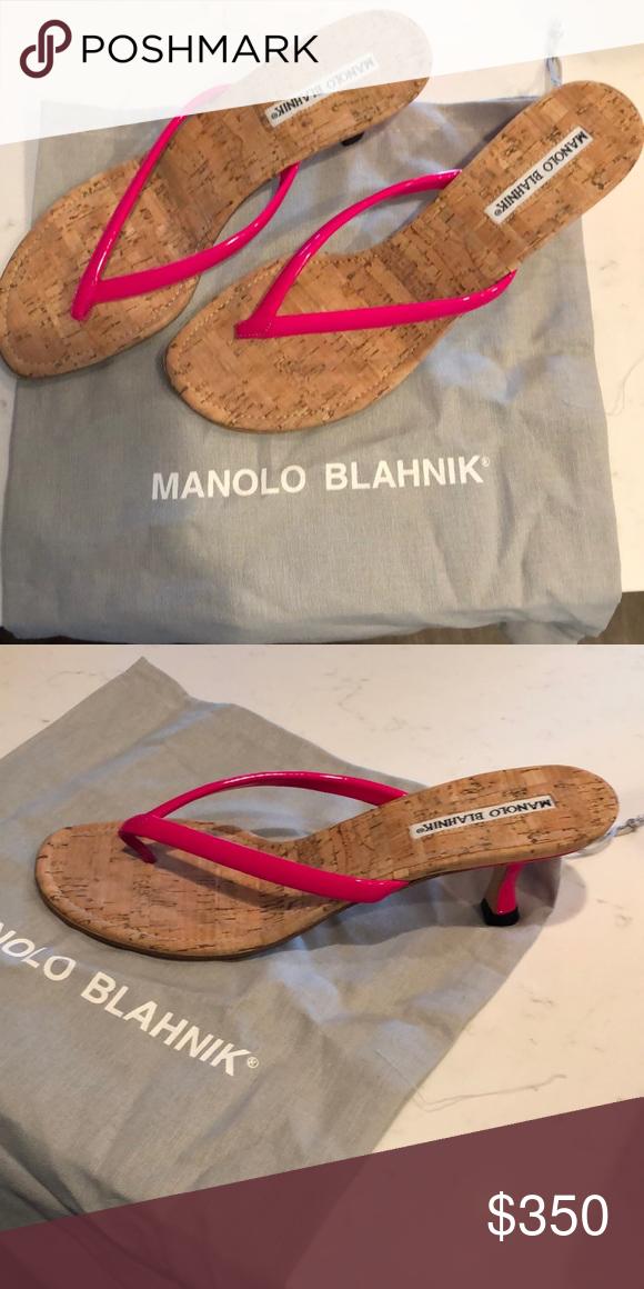 8cd0f4801e6 Manolo Blahnik kitten heel sandals Size 38 never been worn