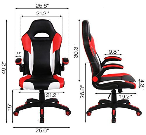 SEATZONE Racing Car Style Bucket Seat Gaming Chair, Curved