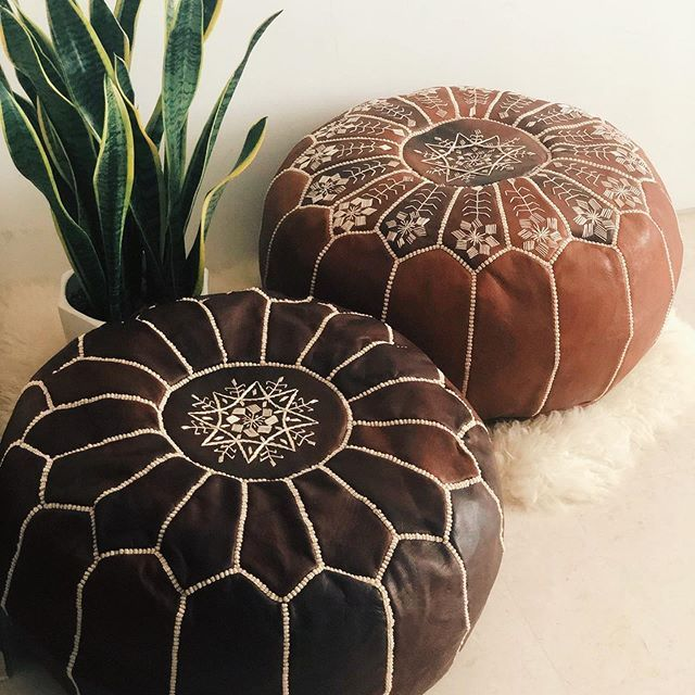 Enter Now The Best Quality Moroccan Leather Pouf 50 Off Moroccan