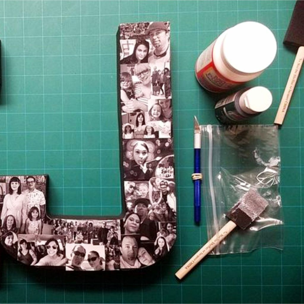 DIY Picture Collage Letters Ideas We Tried It! Let's