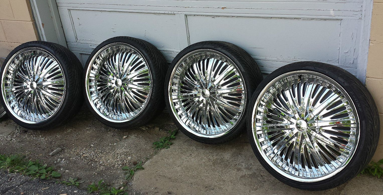 Elure Wheels Pre Owned Custom 22 Inch Chrome Rims Mercedes Benz