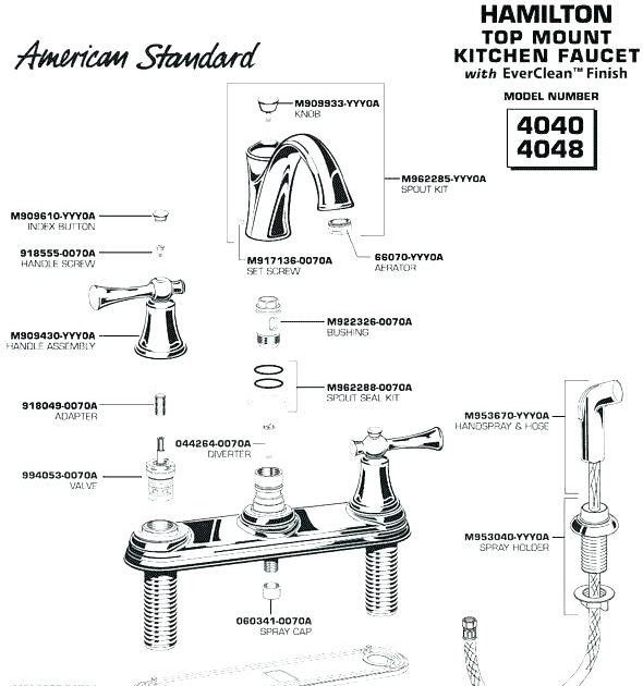 American Standard Sink Faucet Parts American Standard Bathroom Faucets Kachino In 2020 Kitchen Faucet Faucet Parts American Standard Sinks