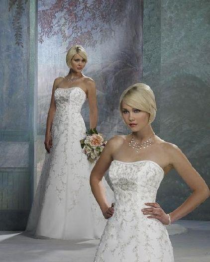 wedding gown rhinestone appliques