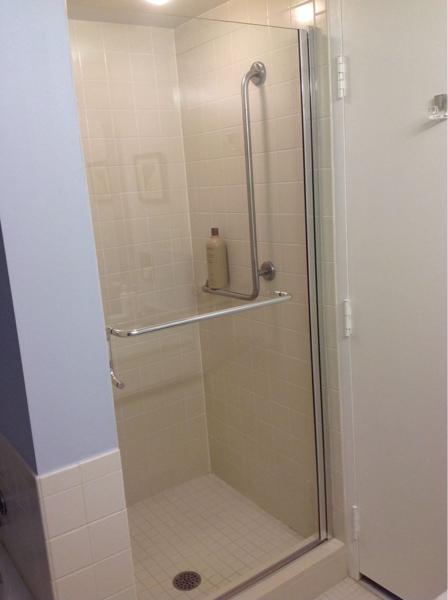 While This Is Not A Frameless Shower Door The Aesthetics Nice