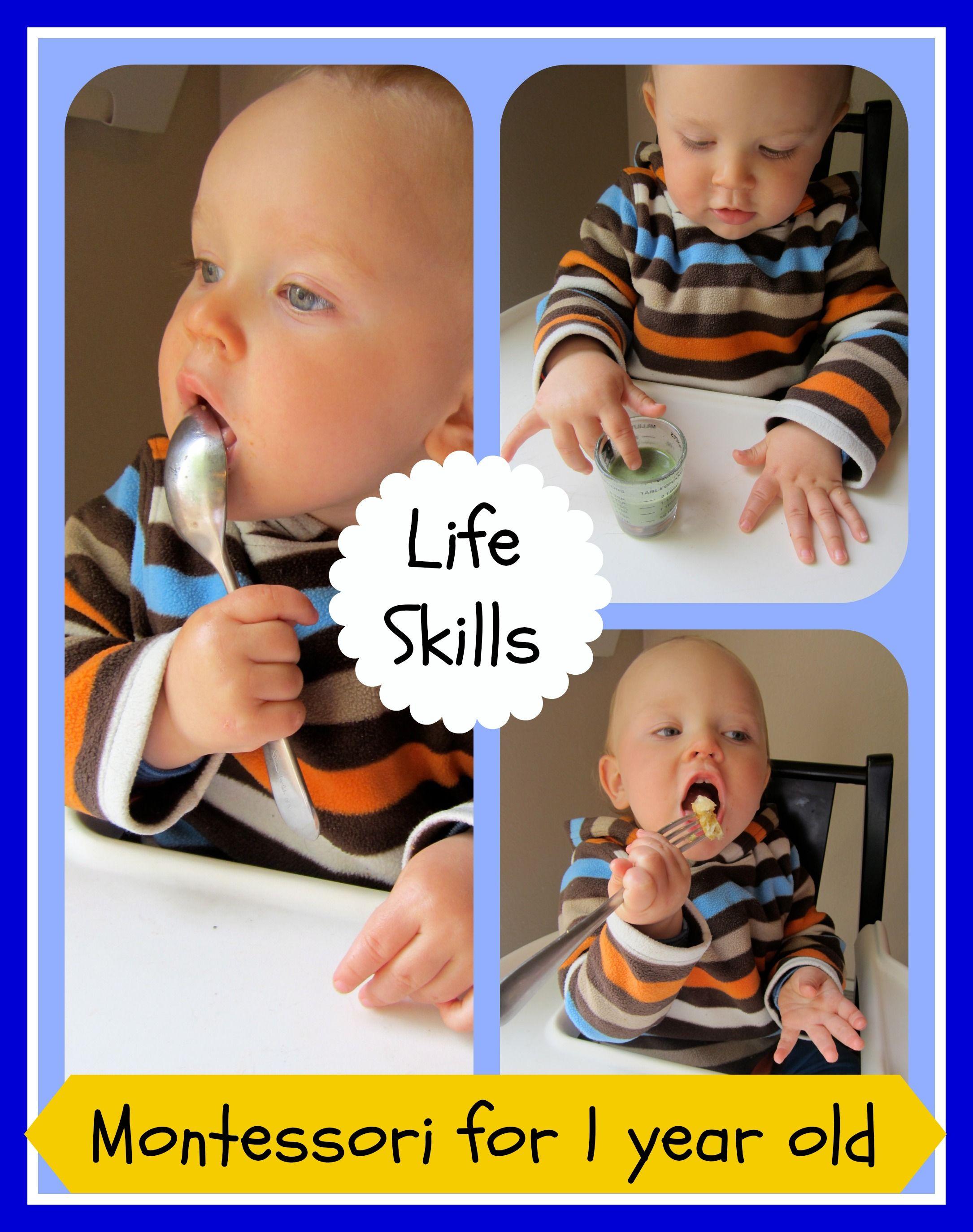 Life Skills for Montessori 1 Year Old contributed by Vanessa on MontessoriBloggersNetwork.com