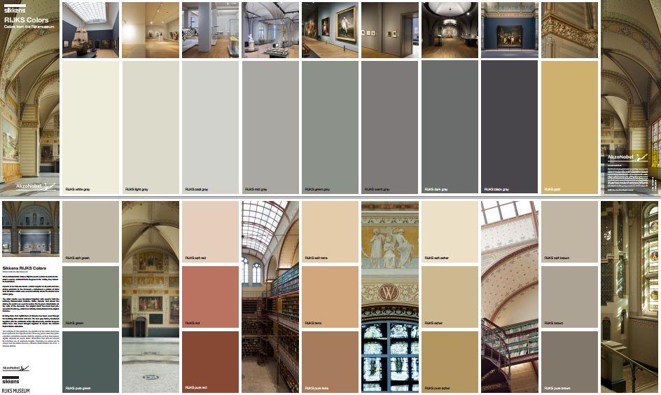 Muurverf Badkamer Sikkens : Sikkens rijksmuseum collection paint verf gray painted walls