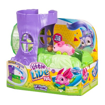 Little Live Pets Lil Fluffy Tree House Playset Blossom Bunny Little Live Pets Toys For Girls Moose Toys