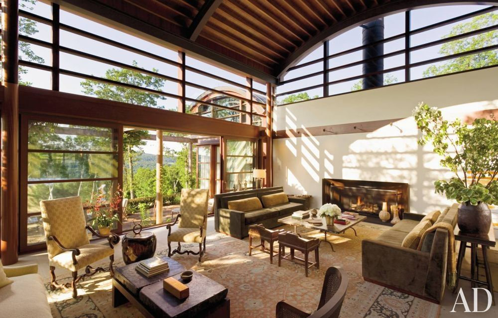 Modern Living Room By LST And Steven F. Haas In Litchfield