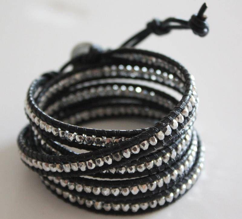 Bracelet AEL 5 tours HELIUM Marine - bracelet - AEL CREATIONS - Fait Maison