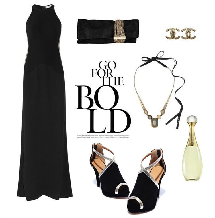 Elegant Strappy Sandals in Black