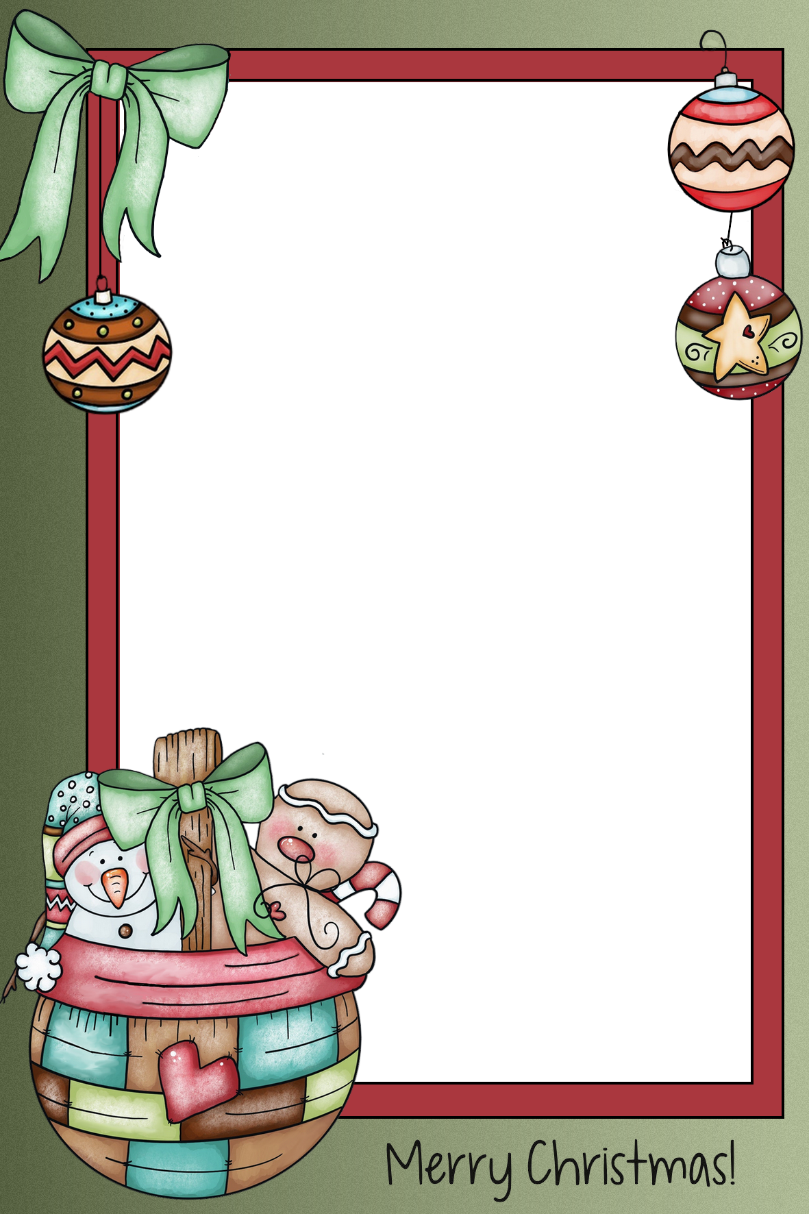 Merry Christmas frame PNG | Рамки