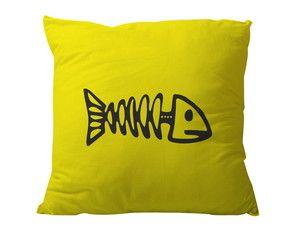 Almofada Espinha de Peixe Amarela