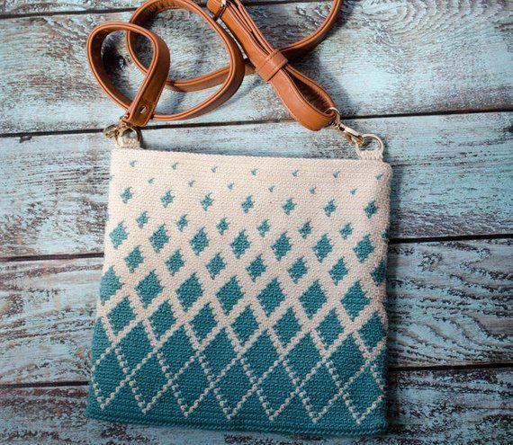 Crochet Bag Pattern, Titan Tapestry Crochet Pattern, Crochet purse pattern, Instant Download PDF