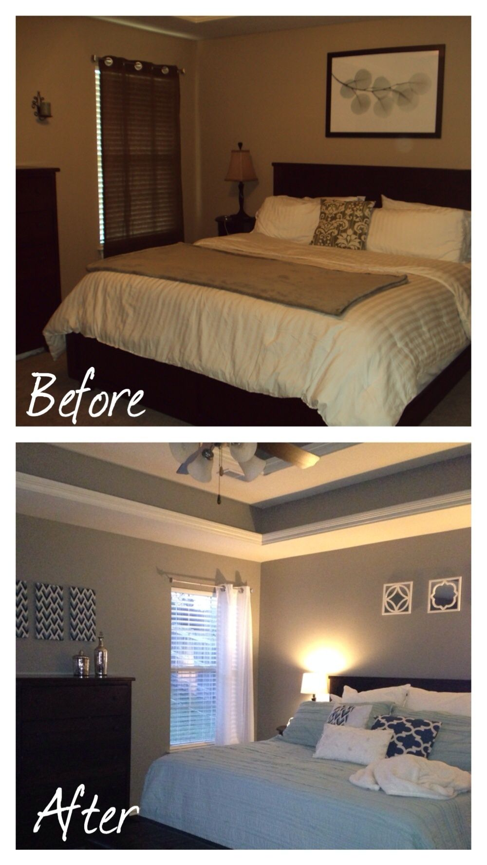 Master Bedroom Before And After Small Bedroom Makeover Small