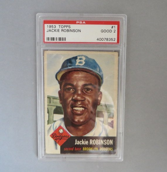 1953 Topps Jackie Robinson 1 Psa Graded Good Vintage