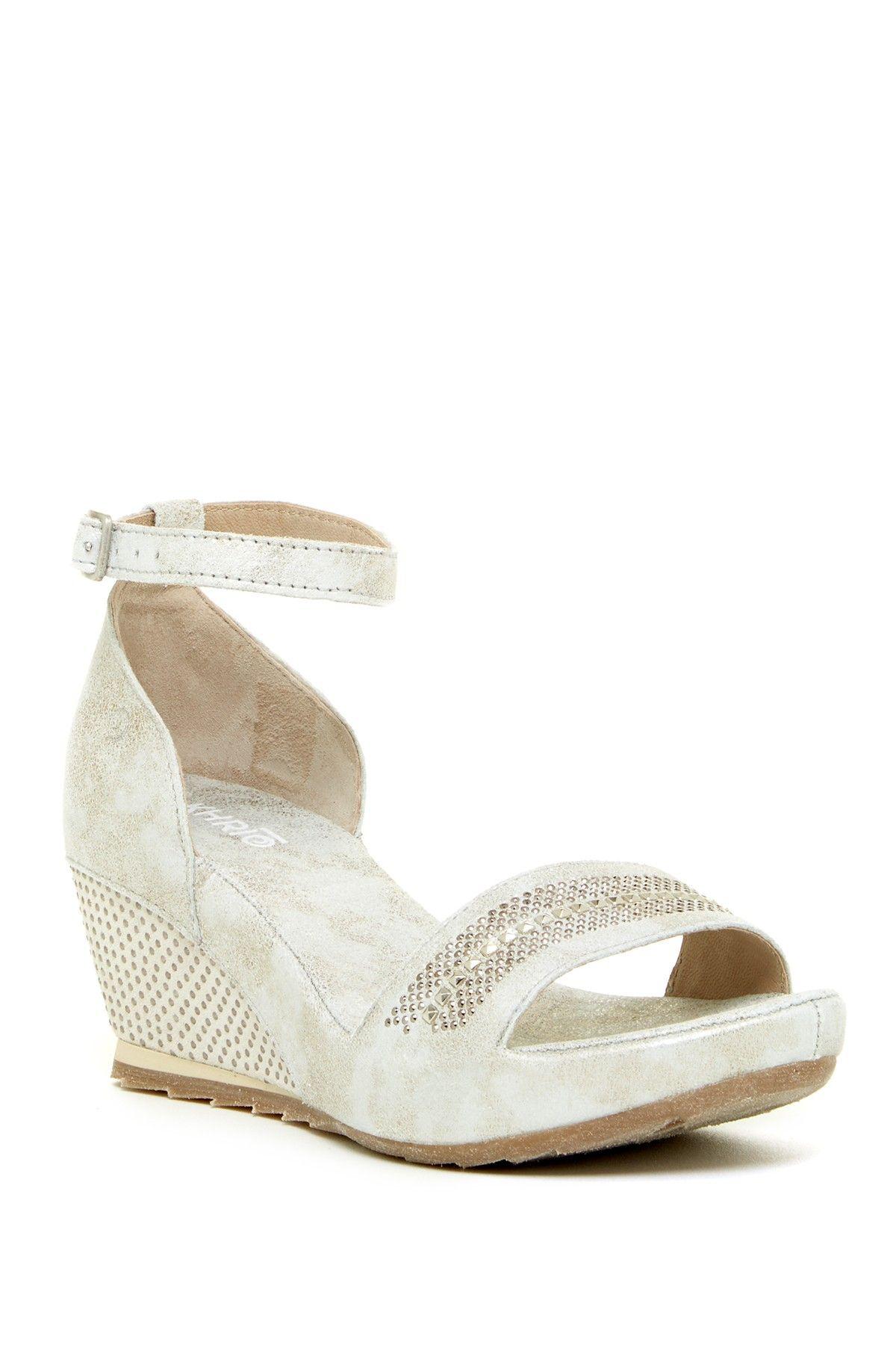 Khrio Studded Wedge Sandal ch8W6G