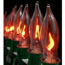 1pc E12 Flickering Flame Candelabra Light Bulbs 3w Realistic Candle Flicker C7
