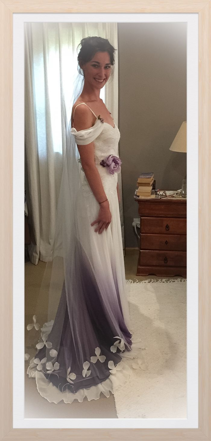 Dye wedding dress after wedding  Dip Dye Wedding Dress Trend Will Make Your Big Day More Colorful