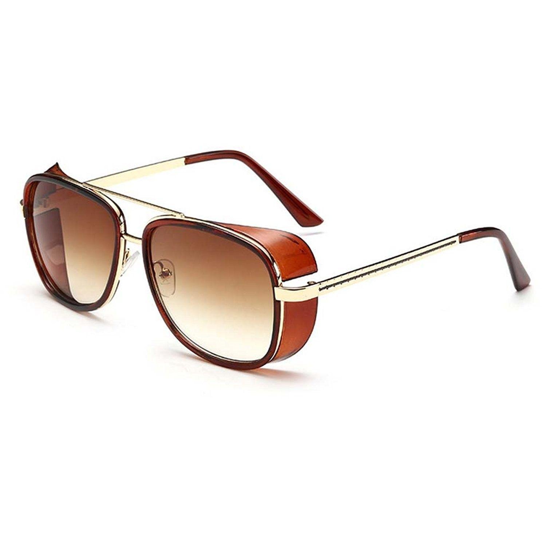 d8f049e215d V House Men Women Sunglasses Iron Man Tony Driving Sunglasses Frog Mirror  Glasses - C7 - C112IT8O1E7 - Women s Sunglasses