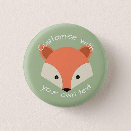 Custom Cute Fox Face Button - accessories accessory gift idea stylish unique custom