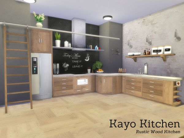 the sims resource kayo kitchen by angela sims 4. Black Bedroom Furniture Sets. Home Design Ideas