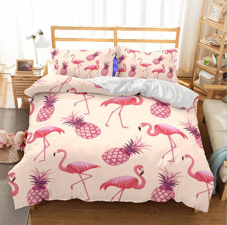 e5abbaa154 Single Doppel Twin Full Queen King Bed Kissenbezug Quilt Cover Rukt 2  Flamingo BLH #Bettwaren #geschenkideen #home #haus