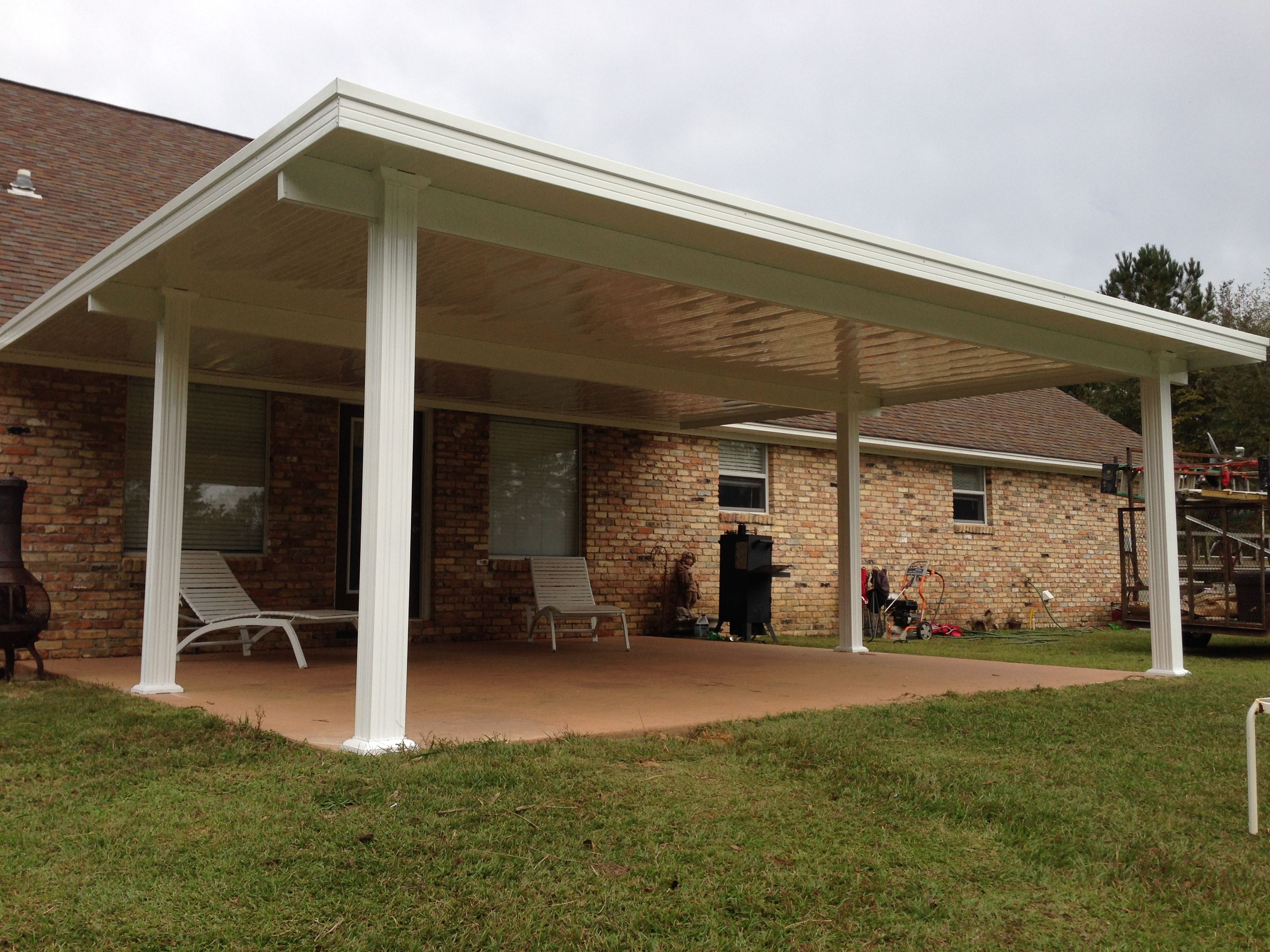 """A gorgeous 20 by 22 reinforced patio cover Heavy duty 9"""" beams"""