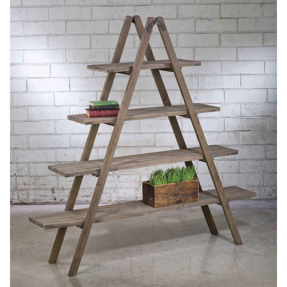 Reclaimed Wood A Frame Shelf Unit Etagere Bookcase Frame Shelf Bookcase