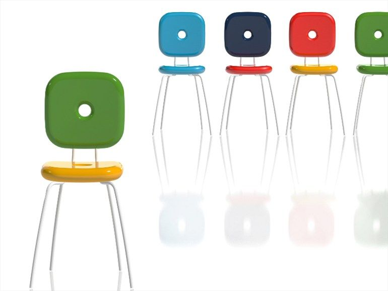 Upholstered Polyethylene Chair PING PONG PANG   Design Paolo Rizzatto  (2012). Colorful ChairsModern ...