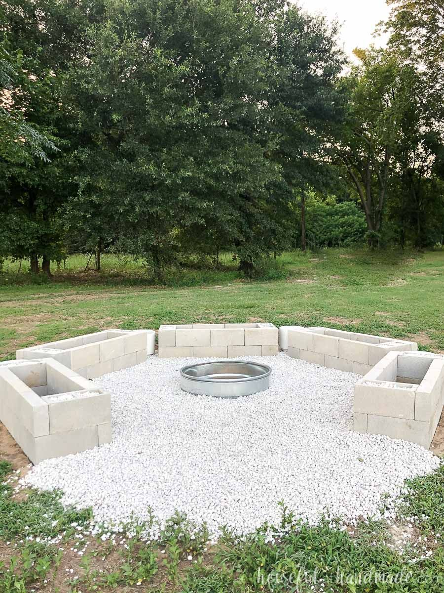 Our Diy Fire Pit The Bases In 2020 Diy Fire Pit Outdoor Inspirations Fire Pit