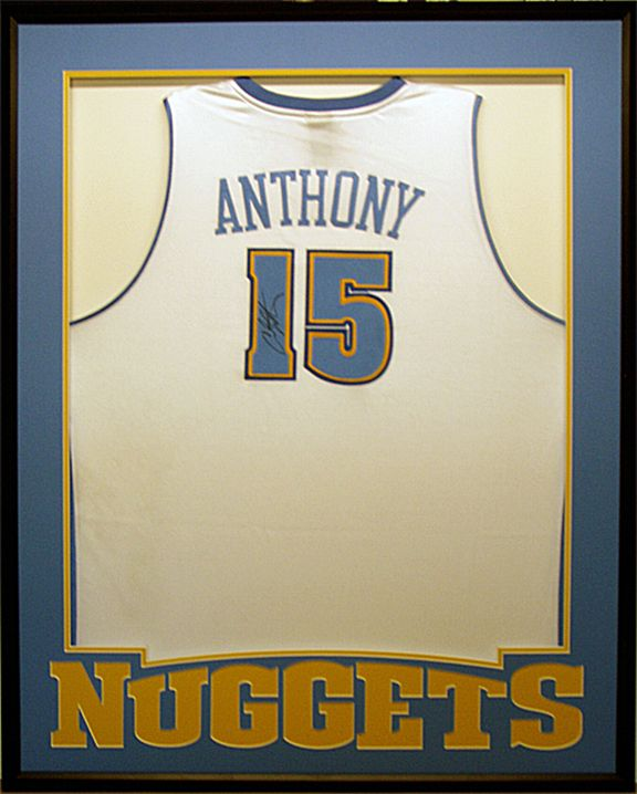 Clever way to frame a basketball jersey | Framed Jerseys | Pinterest ...