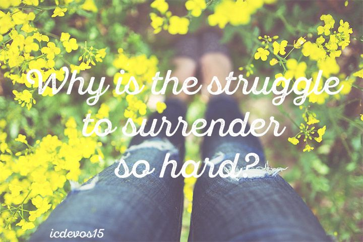 Surrender is hard. Period. Yet, God is good. God is good to me. And God is good at being God. Walk in it today. Begin releasing the grip. #theLordourGodiseverfaithful #surrender #HeLovesUs #HeIsForUs #ICDevos Releasing The Grip | Internet Cafe Devotions
