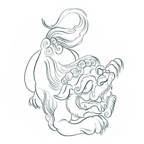 Japanese Tattoo Line Drawing : Japanese tattoos lion tattoo design art flash