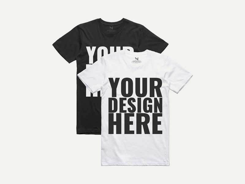 Download 20 T Shirt Mockup Psd Free Download Show Your Design More Realistic Custom Printed Tees Custom Shirts Custom T Shirt Printing