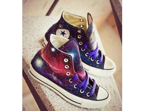 Galaxy Converse shoes Custom Converse Galaxy Converse