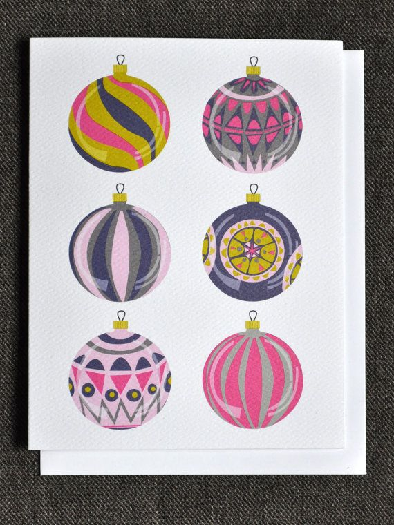 Vintage Glass Baubles - holiday card