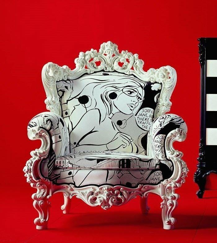 Fun chair !Nuova poltrona stile barocco / tessuto GIACOMO CR / 841 ...