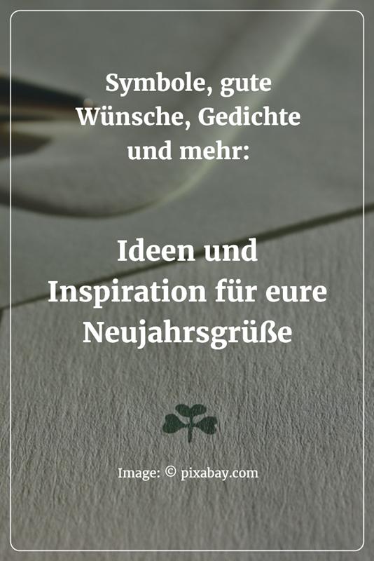 Inspiration und Ideen für eure Neujahrsgrüße: Symbole, gute Wünsche ...