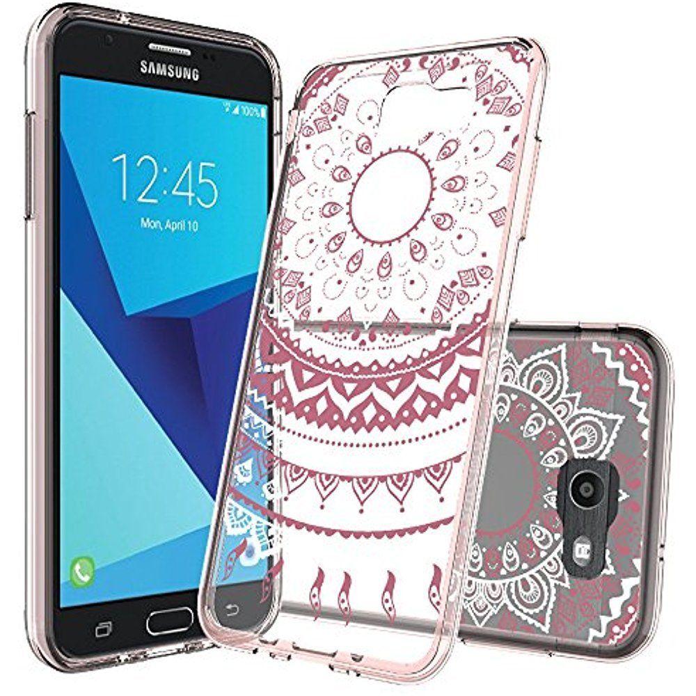best loved 47c21 36637 Samsung Galaxy J7 V / Perx Prime Sky Pro J7V Case Clear With Screen ...